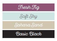 Colour Combination Challenge 1 – Lavender Thoughts