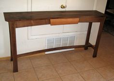 Walnut hall table - Reader's Gallery - Fine Woodworking