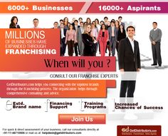 Associate with the industry experts, own a #franchise. Click: http://www.getdistributors.com/franchises/