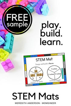 "Watch the video to learn about STEM mats and then click the ""supporting document"" button to download your free STEM Mat sample! Simple STEM activities that are perfect for the Kindergarten classroom! 