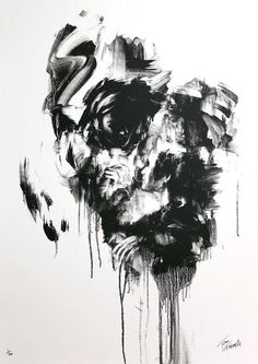 Best Abstract Paintings Black And White Art black and white face White Face Paint, Black And White Painting, Black And White Abstract, White Art, Black White, Best Abstract Paintings, Creepy Paintings, Awesome Paintings, Amazing Art