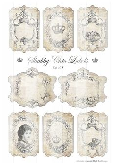 Free Chic Printable Gift Tags | SHABBY CHIC LABELS - Gift Tags - Epherma - Hang Tags - Digital Collage ...: