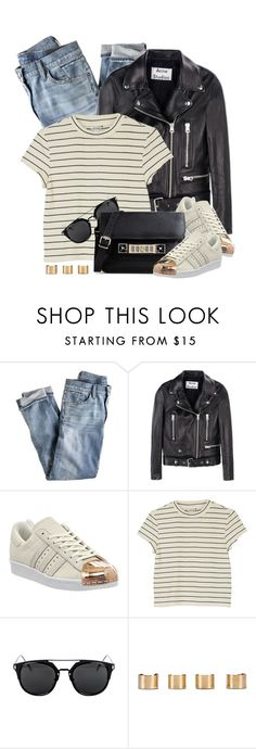 """""""Untitled #3600"""" by monmondefou ❤ liked on Polyvore featuring J.Crew, Acne Studios, adidas, Monki, Maison Margiela and Proenza Schouler"""