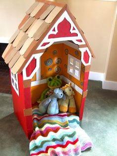 Kartondan Ev Yapımı - Resimli Videolu Örnekleri 9