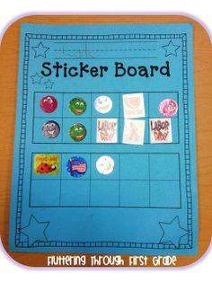 Stick to Good Behavior Freebie: Reward student positively while helping them better understand ten frames!