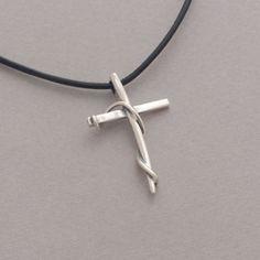 Women's cross pendant, sterling silver cross