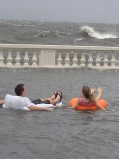 Tropical Storm Debby - just a little flooding on Bayshore Blvd in South Tampa. They are floating down the street and Hillsborough Bay is on the other side of the wall! June 2012 (Home sweet Home) Florida Funny, Old Florida, Tampa Florida, Tampa Bay, Florida Humor, It's All About Perspective, Florida Style, Summer Rain, Sunshine State