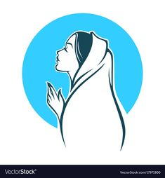 Portrait of virgin mary for your logo label vector image on VectorStock Jesus Drawings, Art Drawings, Mary Doodles, Madonna, Christian Drawings, Catholic Wallpaper, Virgin Mary Art, Graphic Design Letters, Jesus Artwork