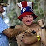 Kurt Busch... Practicin' fer The All Star Race!  Put yer eye on Jimmy Joe's NASCAR Update!