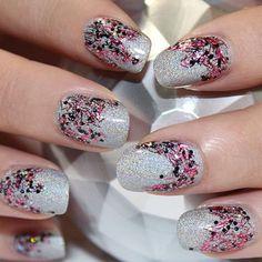 Lacy Glitter. Fun look for Fall!