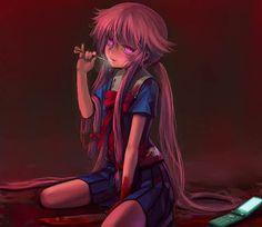 I find myself in the mood for good anime with good yandere like characters. Kinda like yuno from future diary any recommendations? Yandere Girl, Yandere Anime, Animes Yandere, Tsundere, Asuna, Yuno Mirai Nikki, Yuno Gasai Anime, Chibi, Mirai Nikki Future Diary