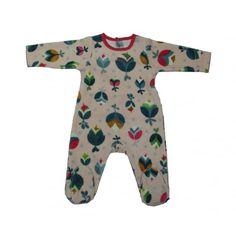210c37543 Catimini Baby Girls Velour One Piece Floral Pyjama Body One Piece Pajamas,  Pyjamas, Baby