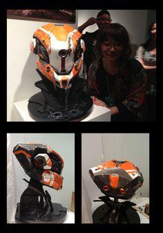 helmet project from art center by Llia Yu, via Behance