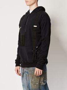 Greg Lauren толстовка с капюшоном и нашивками
