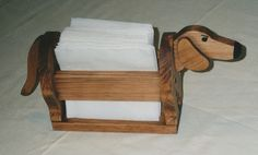 Dachshund Napkin Holder and many more uses door Waltsworkshop