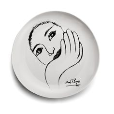 DINNER PLATE - face facts From the sketchbook range of Carrol Boyes' personal drawing books, this is Face Facts South African Design, South African Artists, Business Woman Successful, Kitchen Cutlery, White Dinner Plates, Timeless Design, Decorative Plates, Porcelain, Facts
