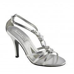LATOYA-339 Women Rhinestones High Heels - Silver