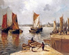Sailboats in the Port of Toulon