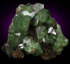 Ludlamite with Siderite from Blackbird Mine, Cobalt District, Lemhi County, Idaho