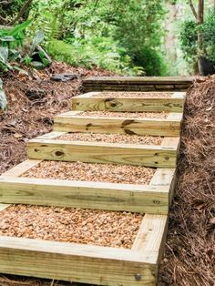 , how to make landscape stairs - - Yahoo Image Search Results. , how to make landscape stairs - - Yahoo Image Search Results Landscape Stairs, Landscape Timbers, Landscape Timber Crafts, House Landscape, Landscape Architecture, Sloped Backyard, Backyard Landscaping, Landscaping Ideas, Railroad Ties Landscaping