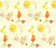 daisy lily poppy & rose - fabric8 fabric by lisaekström on Spoonflower - custom fabric
