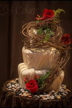 Grapevine wedding cake!