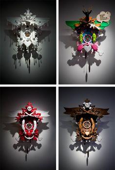 Nice work by Stefan Strumbel from Germany. He modifies the good old german cuckoo clocks