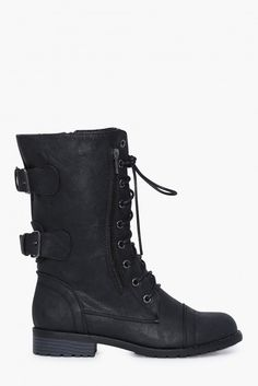 Combat Boots in Black | Necessary Clothing