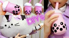 Room Decor/Holiday Gifts DIYs:  DIY Pusheen Cat Pillow/Plush+DIY Bubble ...