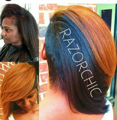 Razorchic this color tho! Short Sassy Hair, Short Hair Cuts, Short Hair Styles, Mohawk Styles, Short Pixie, Razor Chic, Bold Hair Color, Hair Game, Hair Affair