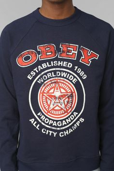 OBEY All City Champs Pullover Sweatshirt