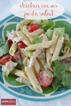 Chicken+Caesar+Pasta+Salad+from+MomAdvice.com.