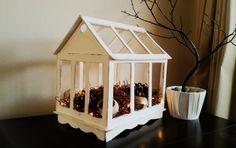DIY terrarium made from foam boards {Pottery Barn knockoff}