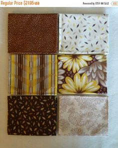 50% OFF SALE Cotton Fabric, Quilt, Home Decor Fabric, Brown Fat Quarter Bundle of 6 , Fast Shipping FQ221