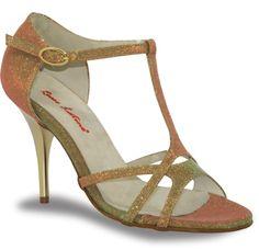 Mod. R119 notturno oro (01) by Rosso Latino #RossoLatino #dance #shoes #danceshoes Visit: www.rossolatino.com