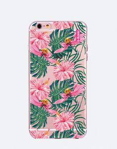 funda-movil-flores-tropical-2 Estilo Tropical, Phone Cases, See Through, Mobile Cases, Roses, Flowers, Phone Case