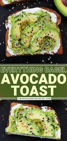 Healthy Breakfast Recipes, Vegetarian Recipes, Cooking Recipes, Healthy Recipes, Healthy Meals, Yummy Recipes, Healthy Food, Simple Avocado Toast, Avacado Toast