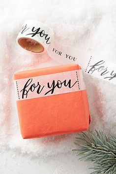 Custom wrap gifts with this beautifully adorned For You Washi Tape Cool Gifts, Diy Gifts, Washi Tape Crafts, Brown Paper Packages, Pretty Packaging, Packaging Ideas, Christmas Gift Wrapping, Merry And Bright, Christmas Holidays