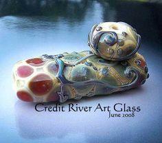 Julie Nordine   Credit River Art Glass: Opal Yellow