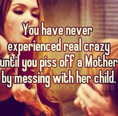 Dont mess with someones child, cause us mothers can get real cray!
