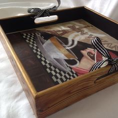 Craft House, Painted Trays, Art Furniture, Vintage Wood, Home Crafts, Tea Pots, Handmade, Gifts, Diy And Crafts