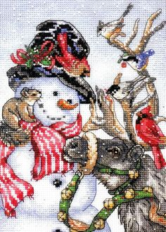Dimensions Counted Cross Stitch Kit SNOWMAN & REINDEER