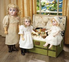 Sanctuary: A Marquis Cataloged Auction of Antique Dolls - March 19, 2016: 34 German Bisque Child, Model 152, by Kestner with Original Body and Chemise