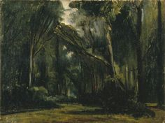 A painting by Paul Huet - Landscape in the Forest at Compiègne. This was the site of Marie Antoinette's first meeting with the French royal family