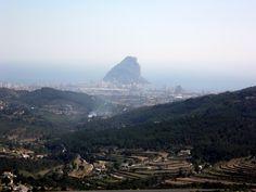 Parque natural del Peñón de Ifach en Calpe, provincia de Alicante (Spain)