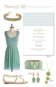 Stationery & Style: Casual Bridal Shower Outfit