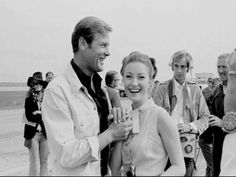Roger Moore and Jane Symour