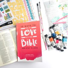 mixed media art journaling Bible tutorial: simple inspiration | taking inspiration from a sticker to create a mixed media background by Heather Greenwood