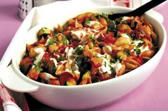 Rosemary Conley's courgette pasta bake