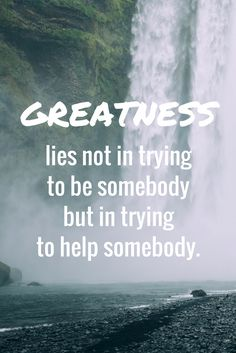 """Greatness lies not in trying to be somebody but in trying to help somebody."" on the School of Greatness, episode 500!"